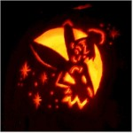 Clumsy the Elf's Hallowe'en pumpkin