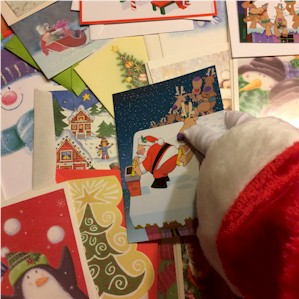 Santa Claus loves holiday cards