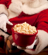 Santa, popcorn and Christmas movies!