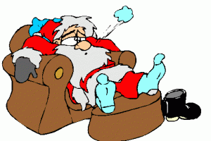 Christmas Day - One very tired Santa!