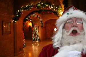 Santa loves singing Christmas carols!
