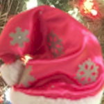 sparkly girl elf hat